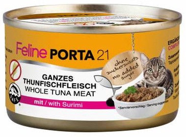 Feline Porta 21 Cat Wet Food w/ Tuna & Surimi 90g
