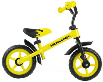 Lastejalgratas Milly Mally DRAGON Balance Bike Yellow 0806
