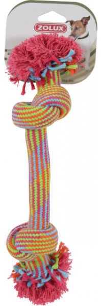 Zolux Coloured 2-Knot Rope Toy 30cm