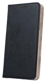 Mocco Stamp Rose Magnet Book Case For Apple iPhone 6/6s Black