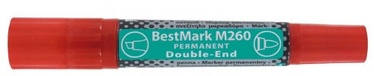 Stanger BestMark M260 Permanents Double End Marker 8pcs Red