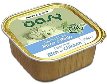 Oasy Wet Dog Pate Puppy & Junior Rich in Chicken 150g