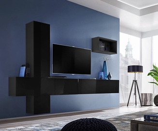 ASM Blox VI Living Room Wall Unit Set Black
