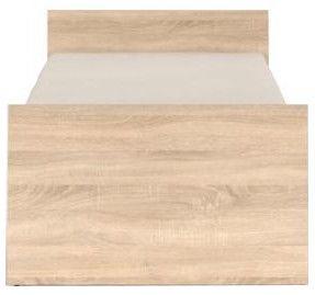 Black Red White Bed Nepo 90A Sonoma Oak