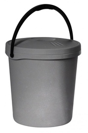 Plast Team Bucket With Lid 30.4x30.4x33.6cm 16l Grey