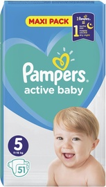 Pampers Active Baby-Dry S5 51