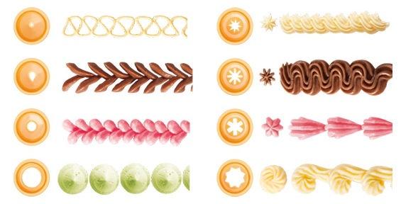 Tescoma Delicia Decorating Nozzles