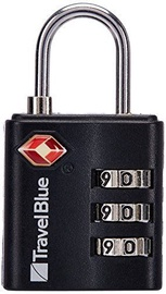 Travel Blue TSA Approved Suitcase Padlock 3 Dial Combination Black