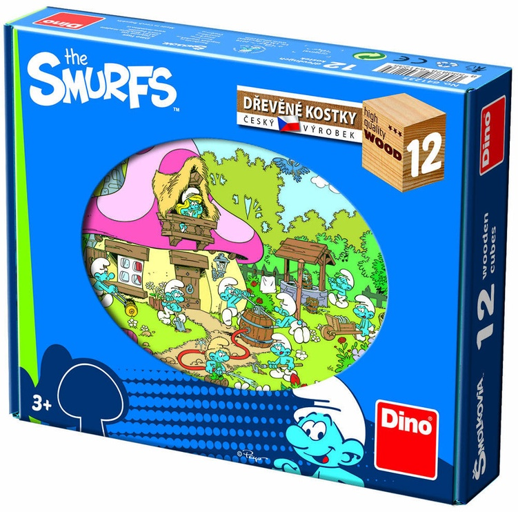 Dino Wooden Cubes The Smurfs 12pcs 64123