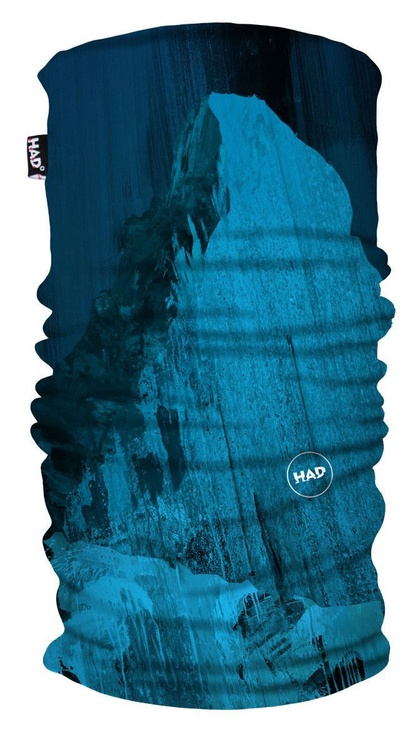 H.A.D. Printed Fleece Tube Matterhorn Blue