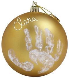 Baby Art Christmas Ball Gold