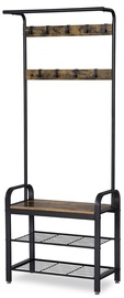 Songmics Coat Rack With Shoe Bench Brown/Black
