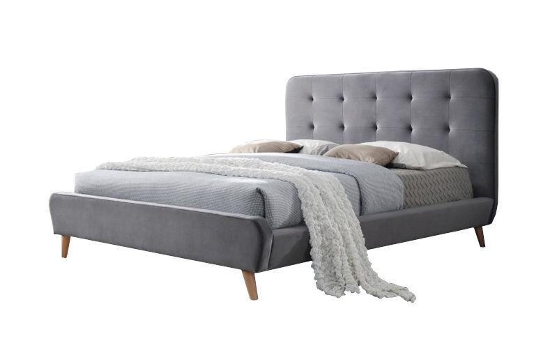 Кровать Signal Meble Tiffany Velvet Gray, 160 x 200 cm