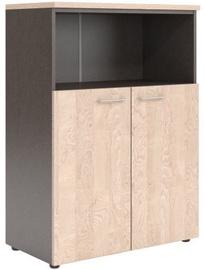 Skyland Xten XMC 85.3 Office Wardrobe 85.6x119x43.2cm Beech Tiara/Dark Wood
