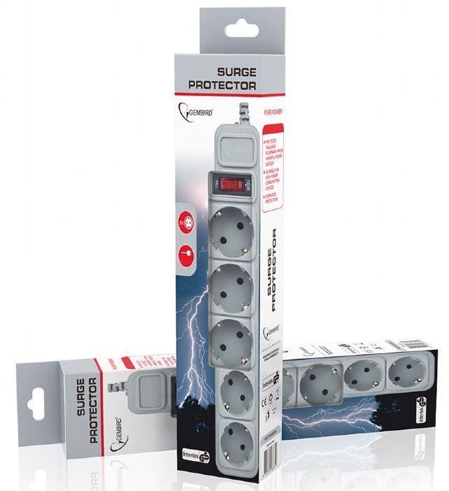 Gembird Surge Protector 5 sockets 1.8m