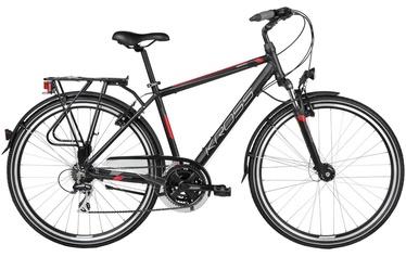 "Jalgratas Kross Trans Siberian L 28"" Black Red Matte 17"