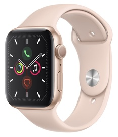 Apple Watch Series 5 44mm GPS Gold Aluminium Case with Pink Sand Sport Band S/M and M/L