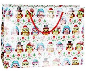 Verners Gift Bag Christmas Owls 389719