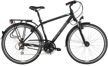 """Jalgratas Kross Trans 4.0 M 28"""" Black Blue Silver Matte 18"""