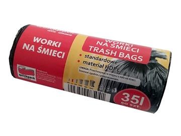 Vigo Trash Bags 35L 50pcs Black