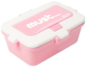 Plastic Set 3in1 Lunch Box 950ml Pink
