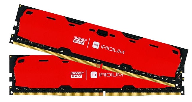 GoodRam IRIDIUM Red 16GB 2400MHz CL15 DDR4 DIMM KIT OF 2 IR-R2400D464L15S/16GDC