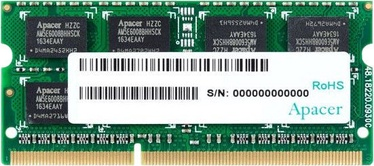 Apacer 8GB 1600MHz CL11 DDR3 SODIMM DS.08G2K.KAM
