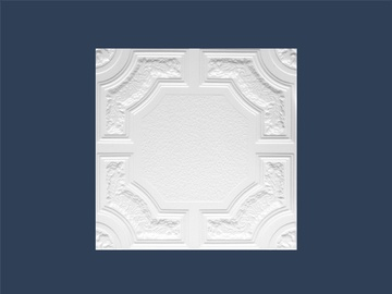 Marbet Caracas Z Ceiling Panels 50x50x0.8cm White