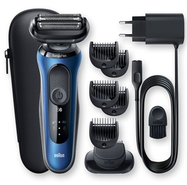 Braun Series 6 60-B1500s Shaver Black/Blue