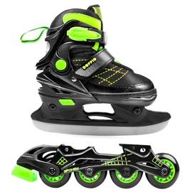 Spokey Doppio 2in1 Rollerblades 926659 Green 30-33