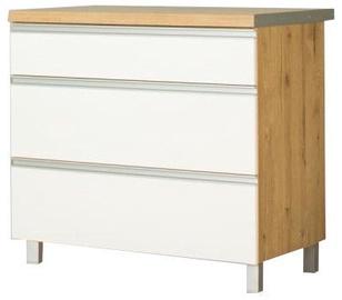 Alumine köögikapp Bodzio Monia 90 White/Brown, 900x520x860 mm