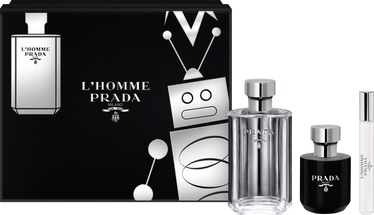 Набор для мужчин Prada L'Homme Prada 100 ml EDT + 100 ml Shower Cream + 10 ml EDT