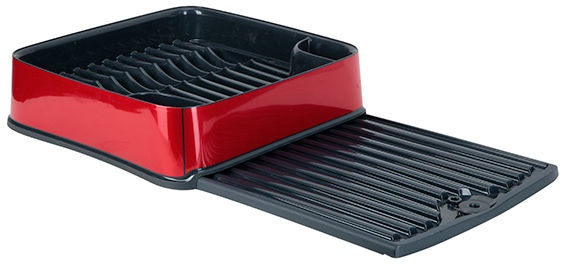Curver Dish Dryer Metallized Square Deco Red