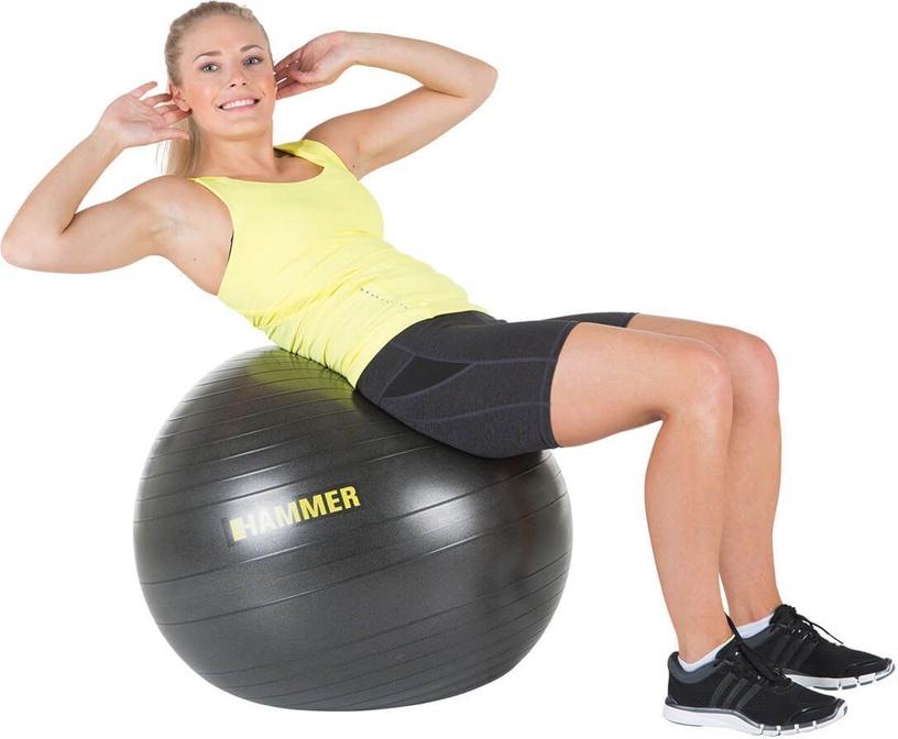 Hammer Anti-Burst Gymnastic Ball 75cm Black
