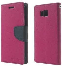Mercury Fancy Diary Book Case For Samsung Galaxy Alpha Pink/Navy