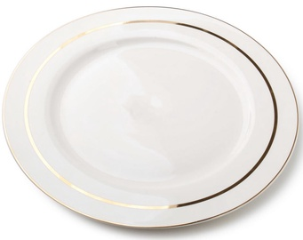 Mondex Mirella Dinner Plate Gold/White 27cm