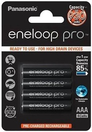Panasonic Eneloop Pro Rechargeable Battery 4x AAA 930mAh