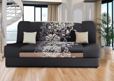 Диван-кровать Platan Jas Kwiaty Grey, 188 x 85 x 90 см