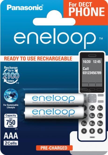 Panasonic Rechargeable Battery AAA x 2