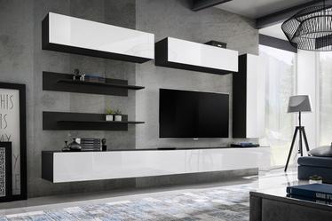 ASM Fly L1 Living Room Wall Unit Set White/Black