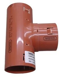 Drenaazitoru kolmik Wavin, D50 mm, 90°, PVC