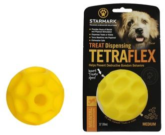 Mänguasi koerale Starmark Treat Dispensing Tetraflex M Yellow