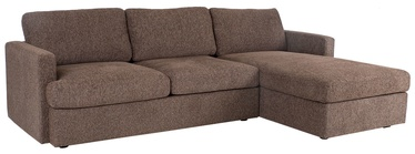 Угловой диван Home4you York 21703, коричневый, правый, 256 x 163 x 85 см