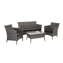 Home4you Waters Garden Furniture Set Grey