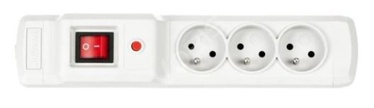 ActiveJet Surge Protector 3 Outlet Grey 1m