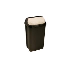 Keeeper Roll-Top Rubbish Bin 50l Black Creamy