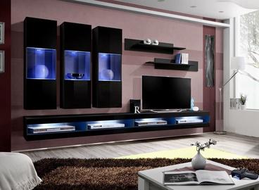ASM Fly Q7 Living Room Wall Unit Set Black