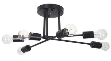 Verners Astridia Ceiling Lamp 6x60W E27 Black