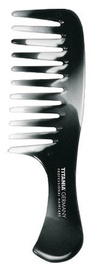 Titania Hair Comb With Handle Black And White 14.5cm