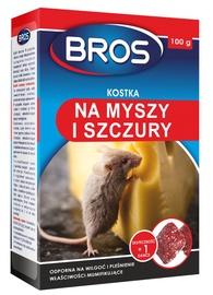 Bros Briquettes Against Mice/Rats Wax Block 100g